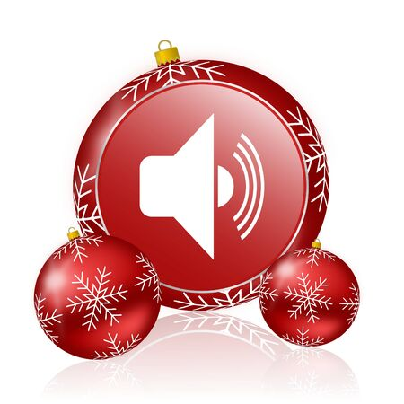 christmas icon: volume christmas icon