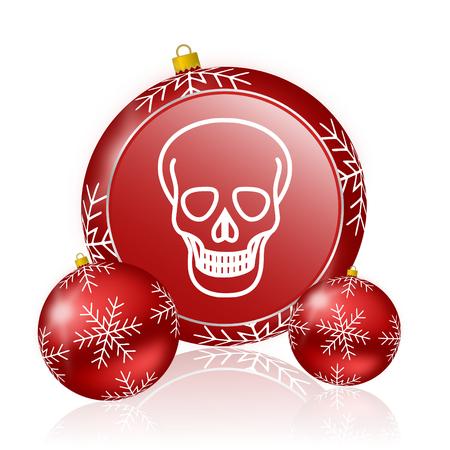 pirating: skull christmas icon
