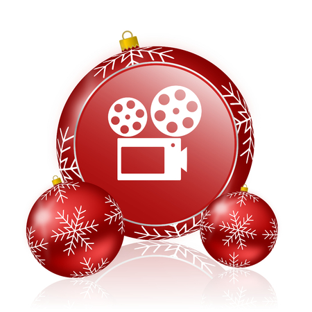 hollywood christmas: movie christmas icon Stock Photo