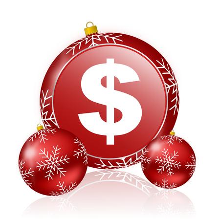 christmas savings: dollar christmas icon