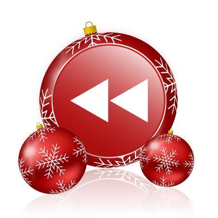 rewind: rewind christmas icon Stock Photo