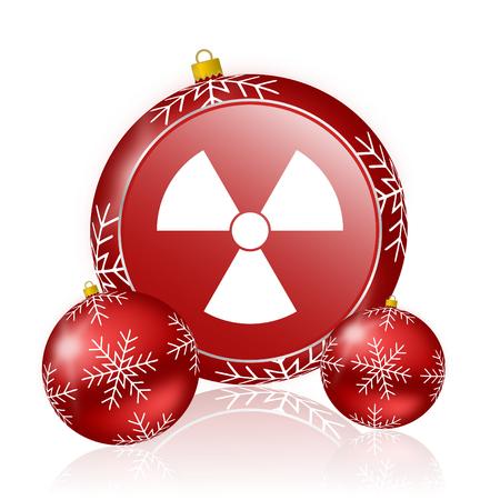 radiacion: icono de la radiaci�n navidad