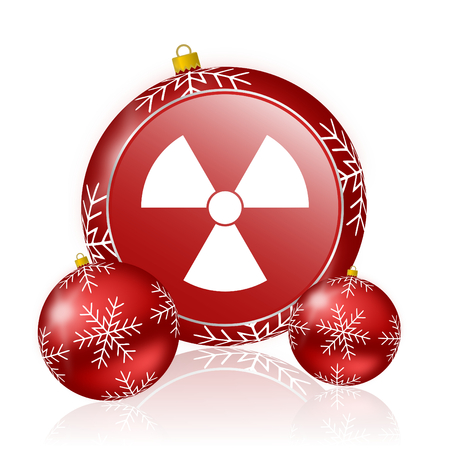 gamma radiation: radiation christmas icon