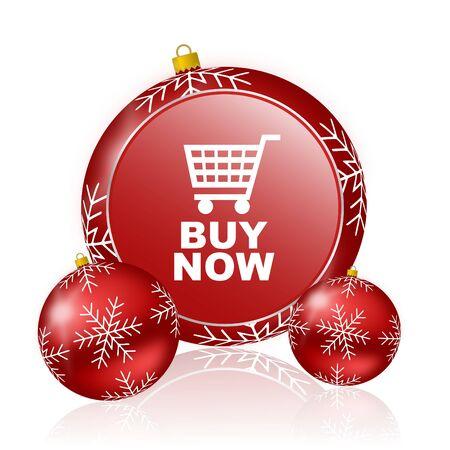 christmas profits: buy now christmas icon