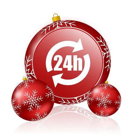 24h: 24h christmas icon