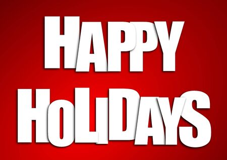 holidays: happy holidays Stock Photo