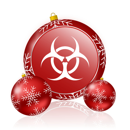 bacterioa: biohazard christmas icon