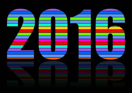new years: 2016 new years illustration