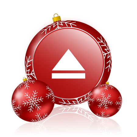 eject icon: eject christmas icon Stock Photo