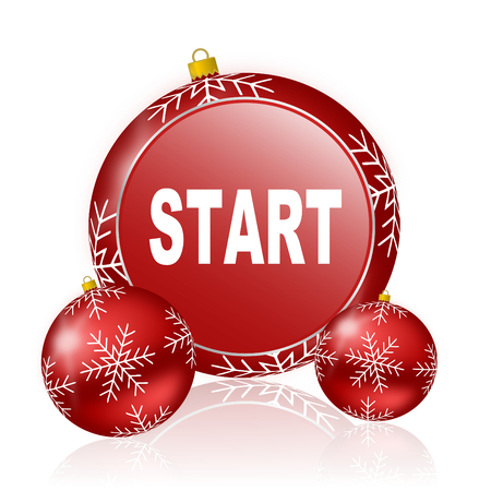 proceed: start christmas icon Stock Photo
