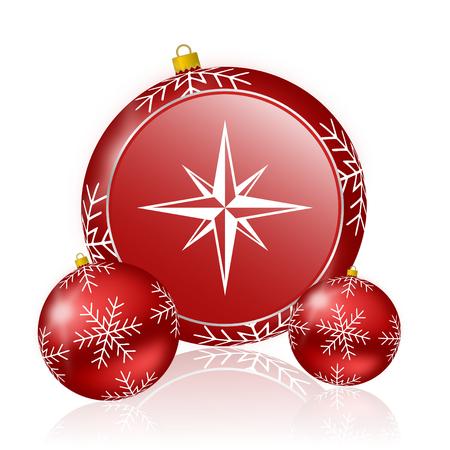 internet explorer: compass christmas icon