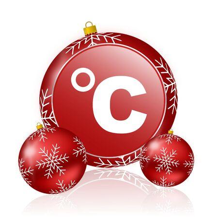 celsius: celsius christmas icon Stock Photo
