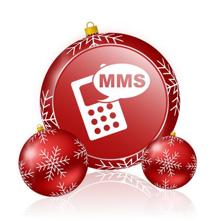 mms: mms christmas icon Stock Photo