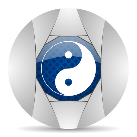 smarthone: ying yang icon Stock Photo