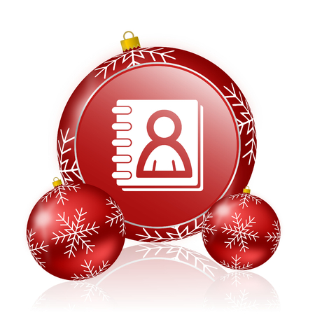 address book: address book christmas icon Stock Photo