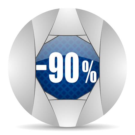 90: 90 percent sale retail icon Stock Photo