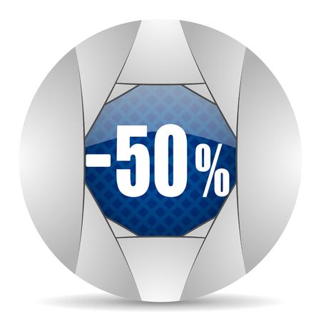 50: 50 percent sale retail icon Stock Photo