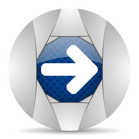 navigation panel: right arrow icon Stock Photo