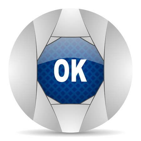 smarthone: ok icon Stock Photo