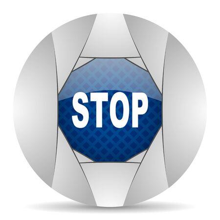proscribed: stop icon Stock Photo