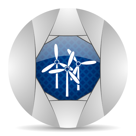 smarthone: windmill icon Stock Photo