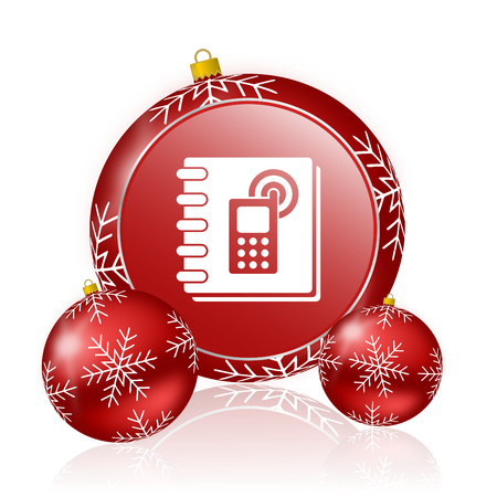 phonebook: phonebook christmas icon Stock Photo