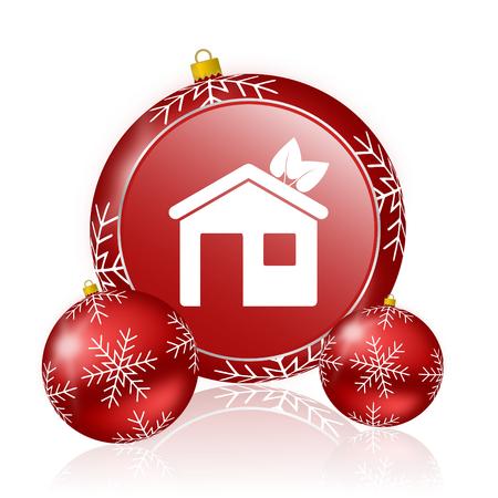 christmas house: house christmas icon Stock Photo