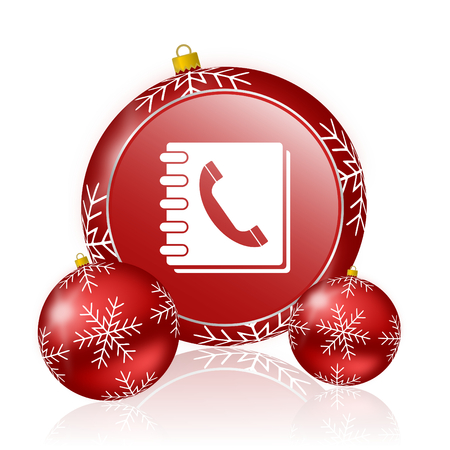 phonebook: phonebook christmas icon Stock Photo
