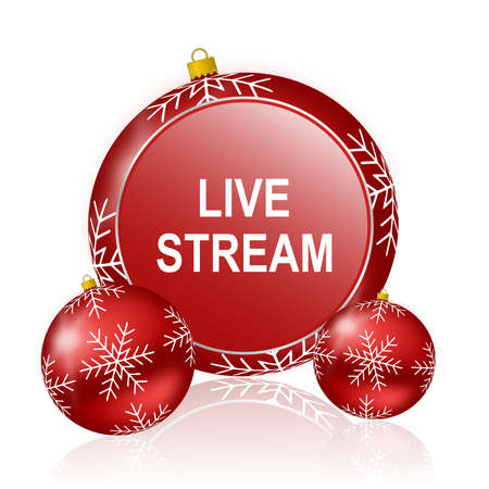 live stream: live stream christmas icon Stock Photo