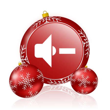 fiestas electronicas: volumen del altavoz icono de navidad Foto de archivo