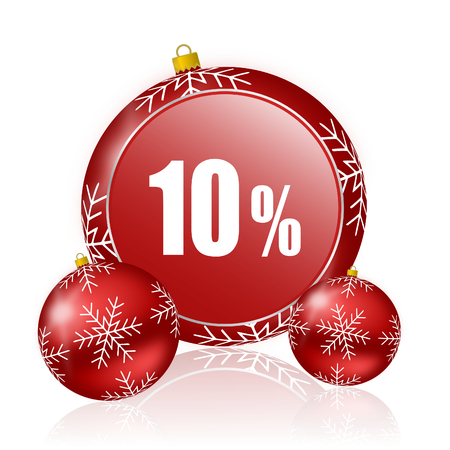 10: 10 percent christmas icon
