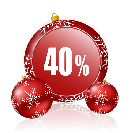 40: 40 percent christmas icon