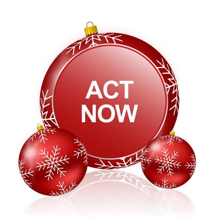 act: act now christmas icon