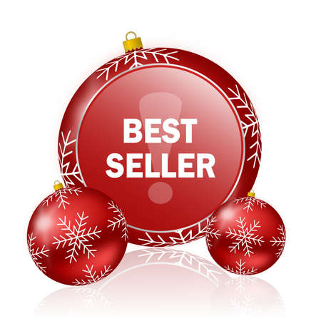 at best: best seller christmas icon Stock Photo