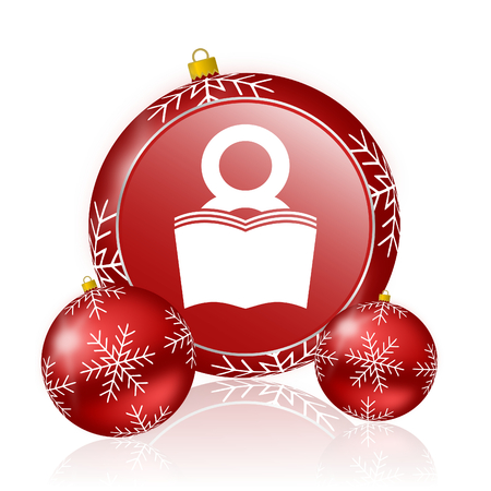 bibliophile: book christmas icon