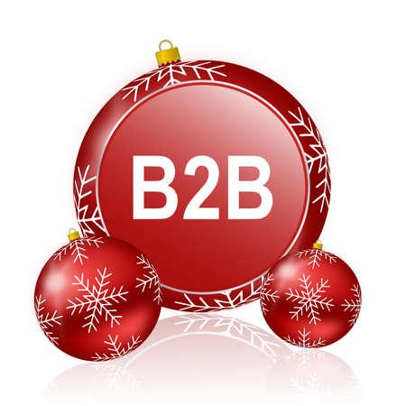 b2b: b2b icono de navidad