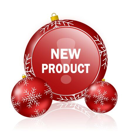 new product: new product christmas icon Stock Photo