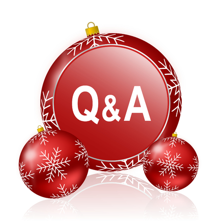 answer: question answer christmas icon