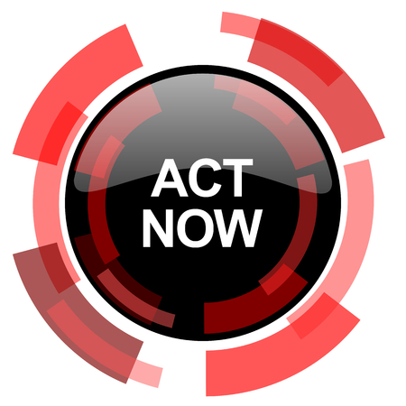 smarthone: act now red modern web icon