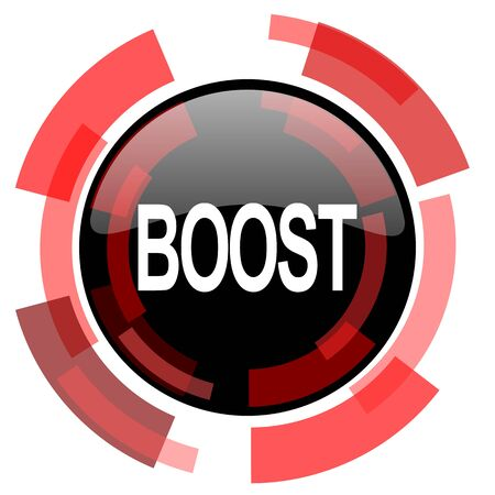 boost: boost red modern web icon Stock Photo