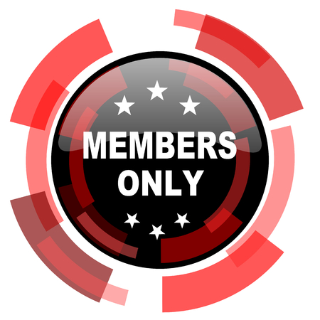 members only: members only red modern web icon Stock Photo