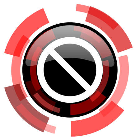 lock block: access denied red modern web icon