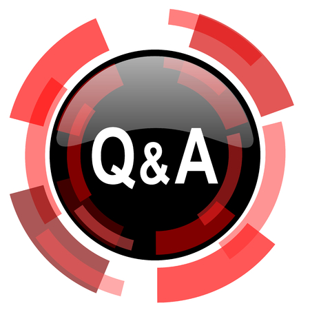question and answer: question answer red modern web icon