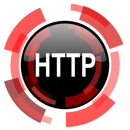 http: http red modern web icon