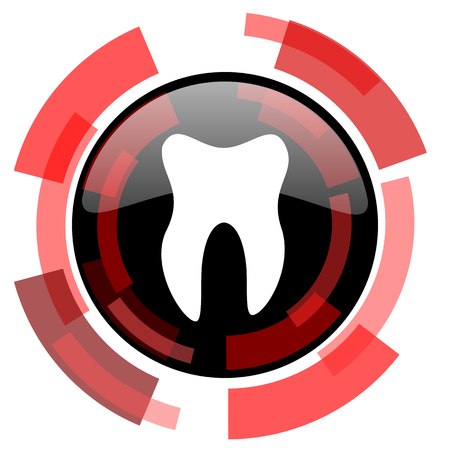 smarthone: tooth red modern web icon
