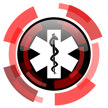 smarthone: emergency red modern web icon Stock Photo