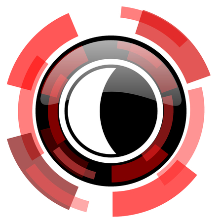 keys to heaven: moon red modern web icon Stock Photo