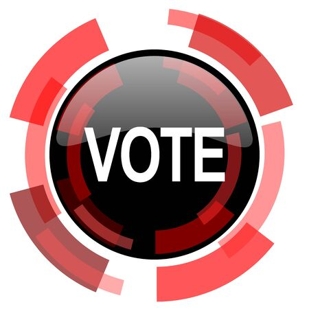 smarthone: vote red modern web icon