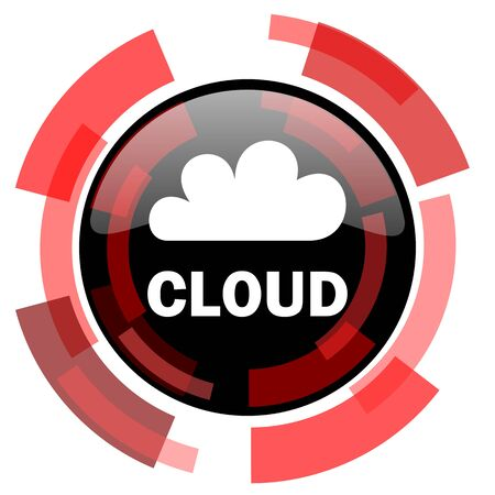 smarthone: cloud red modern web icon Stock Photo