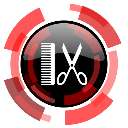 smarthone: barber red modern web icon